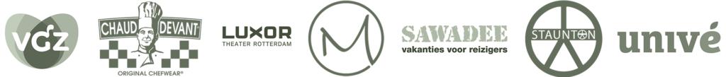 logo's van opdrachtgevers